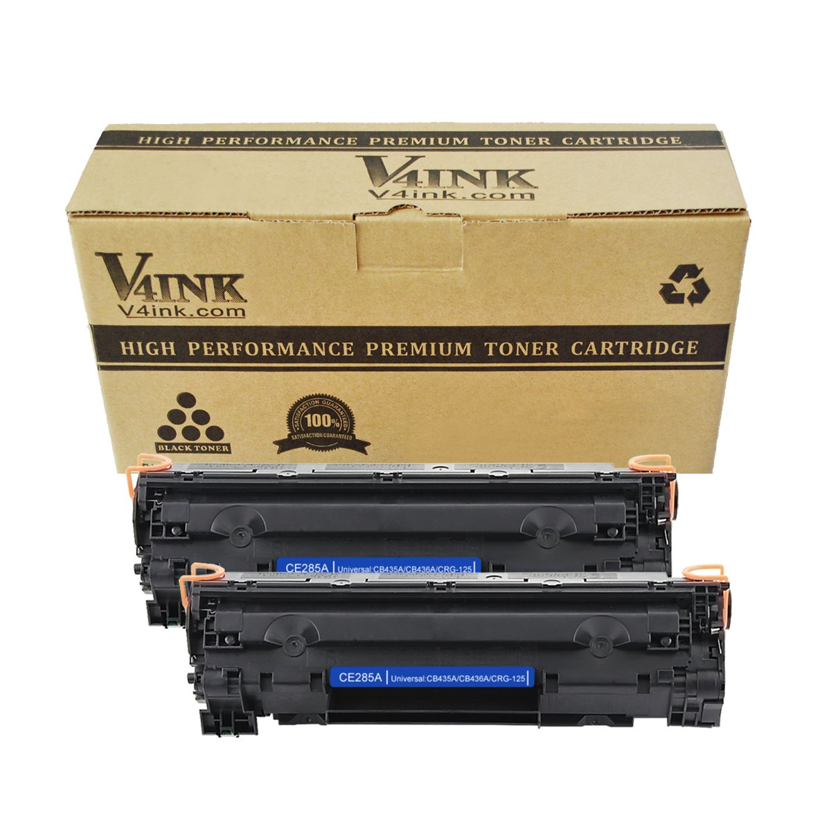 Amazon.com: 2 Pack V4INK Compatible CE285A 85A, Canon 125, CB435A 35A,  CB436A 36A Toner Cartridge for LaserJet P1102, M1212, M1217, M1132, M1214:  Office ...