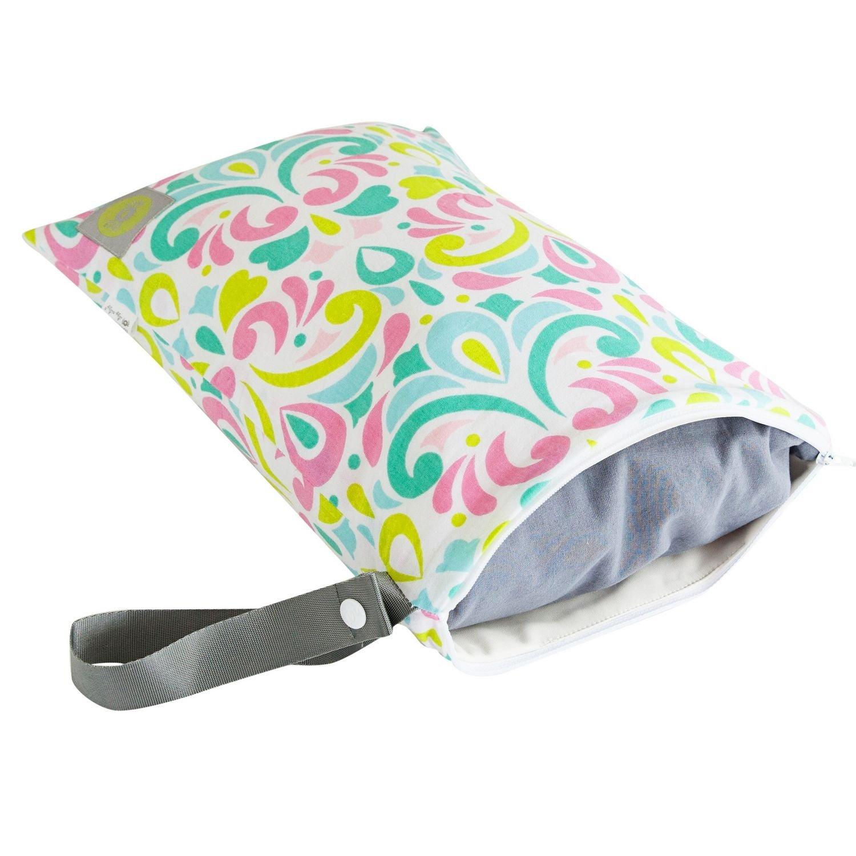 Itzy Ritzy Travel Happens - Bolsa con cremallera para pañales mojado bolsa con asa, tamaño mediano, una Splash: Amazon.es: Bebé