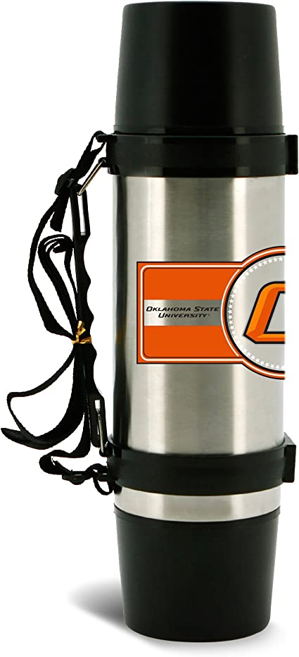 NCAA Oklahoma State Cowboys 14oz Double Wall Stainless Steel Thermo Cup with Lid