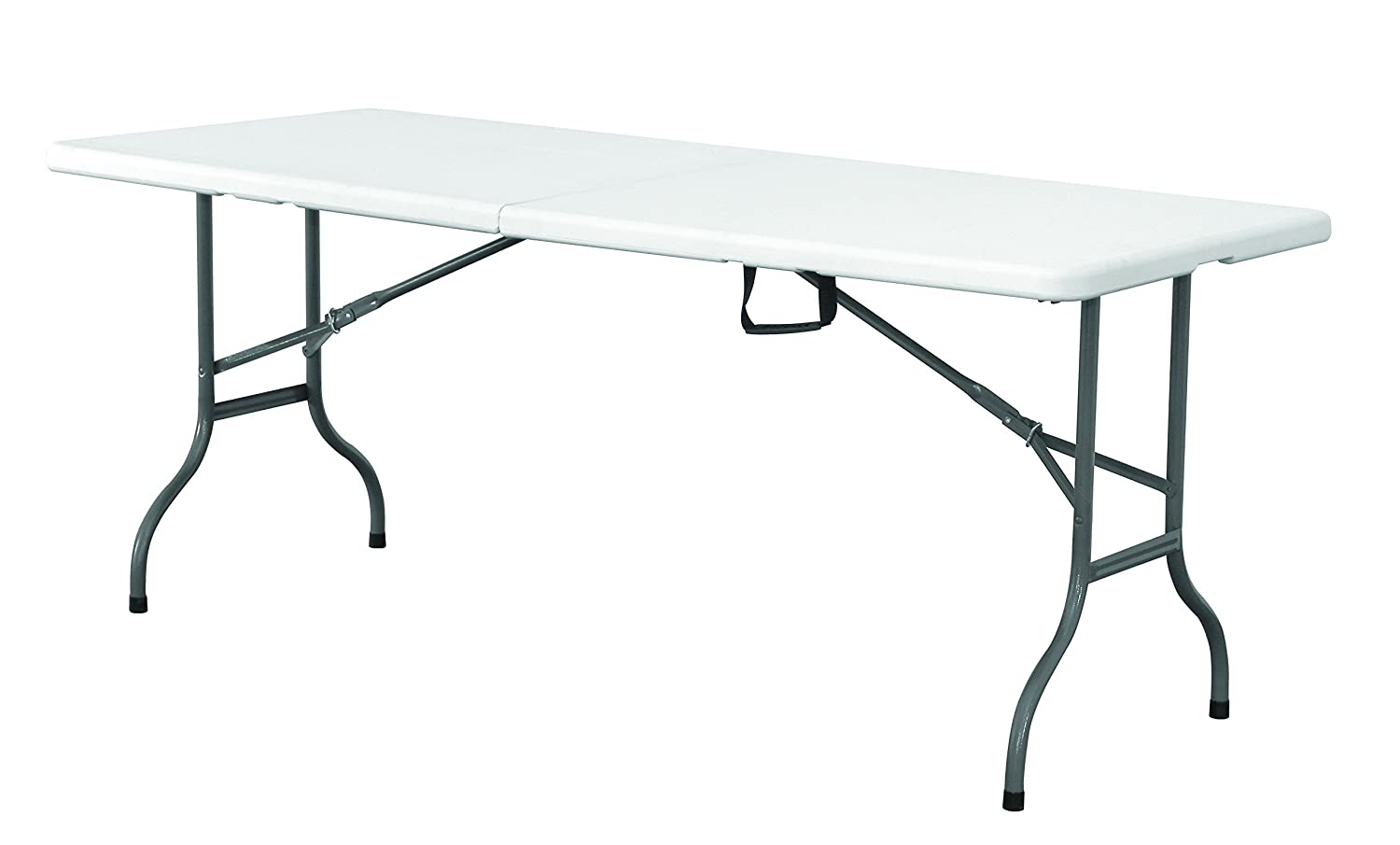 EazyGoods 5 Foot Folding Plastic Table with Carry Handle, White, 150 x 70 x 74 cm Eazy Goods Ltd 5FT