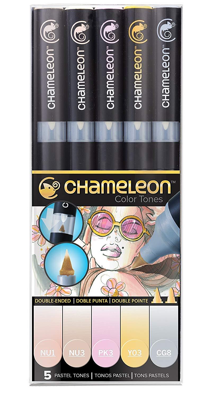 Chameleon Art Products, Chameleon 5-Pen, Pastel Tones Set (1-Unit)