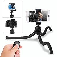 Trípode para móvil,HOVNEE-BL-01 Trípode Flexible con Control Remoto Bluetooth, Soporte de la cámara y del móvil. Adecuado para la mayoría de las cámaras de teléfonos celulares,usarlo en la vida diaria / Escuela / Viaje
