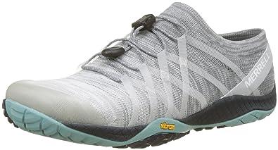 9f0ae03f Merrell Womens Trail Glove 4 Barefoot Trail Sneaker, Vapor, 10 B(M ...