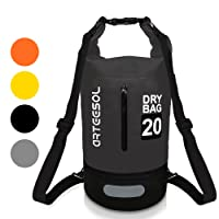 Dry Bag, Arteesol Waterproof 5L/10L/20L/30L Backpack Overboard Bag with Waist Strap for Beach Swim Kayaking Hiking - Protect IPhone Camera Cash Document From Water and Dirt
