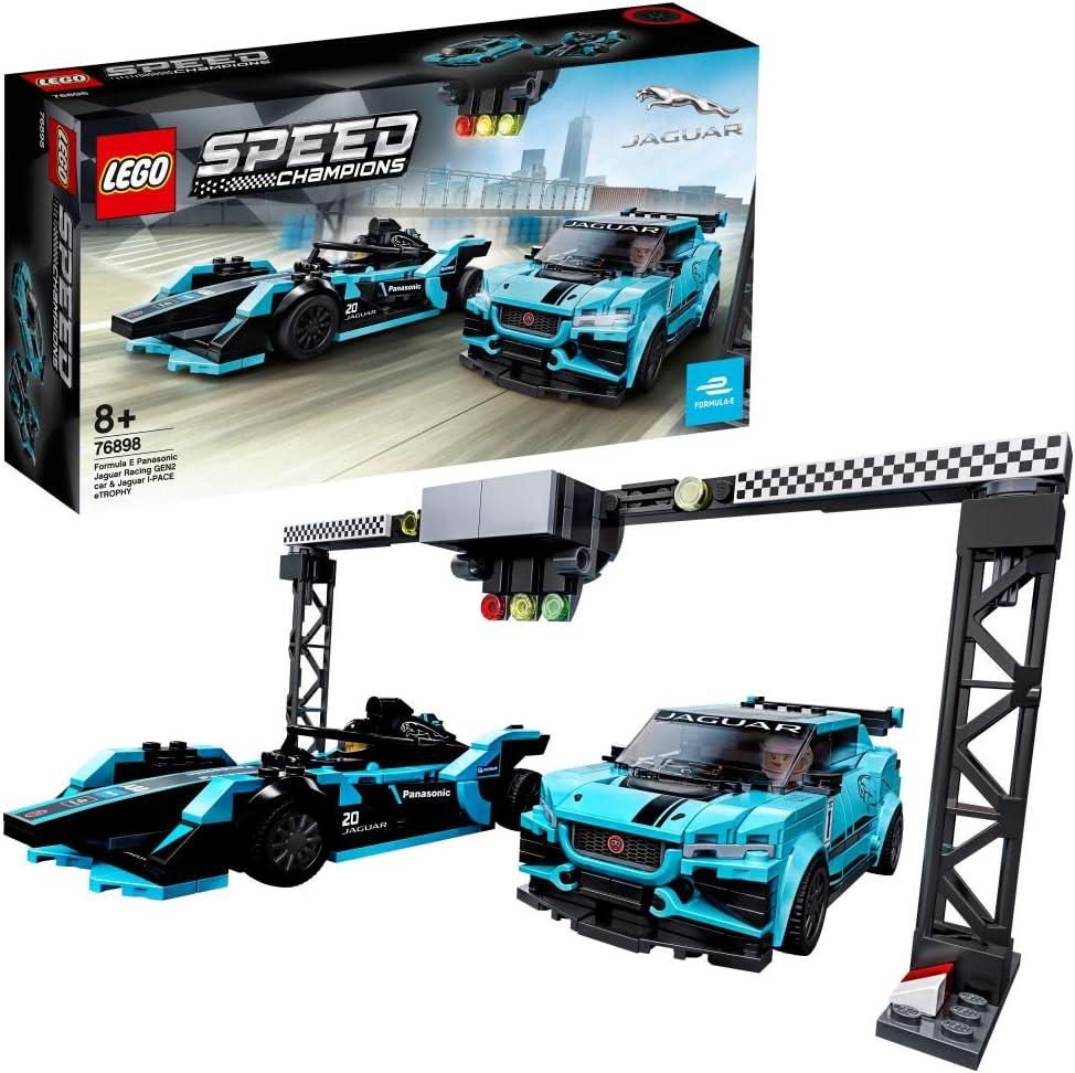レゴ(LEGO) スピードチャンピオン フォーミュラE・パナソニック・ジャガーレーシング GEN2 & ジャガー I-PACE eTROPHY 76898