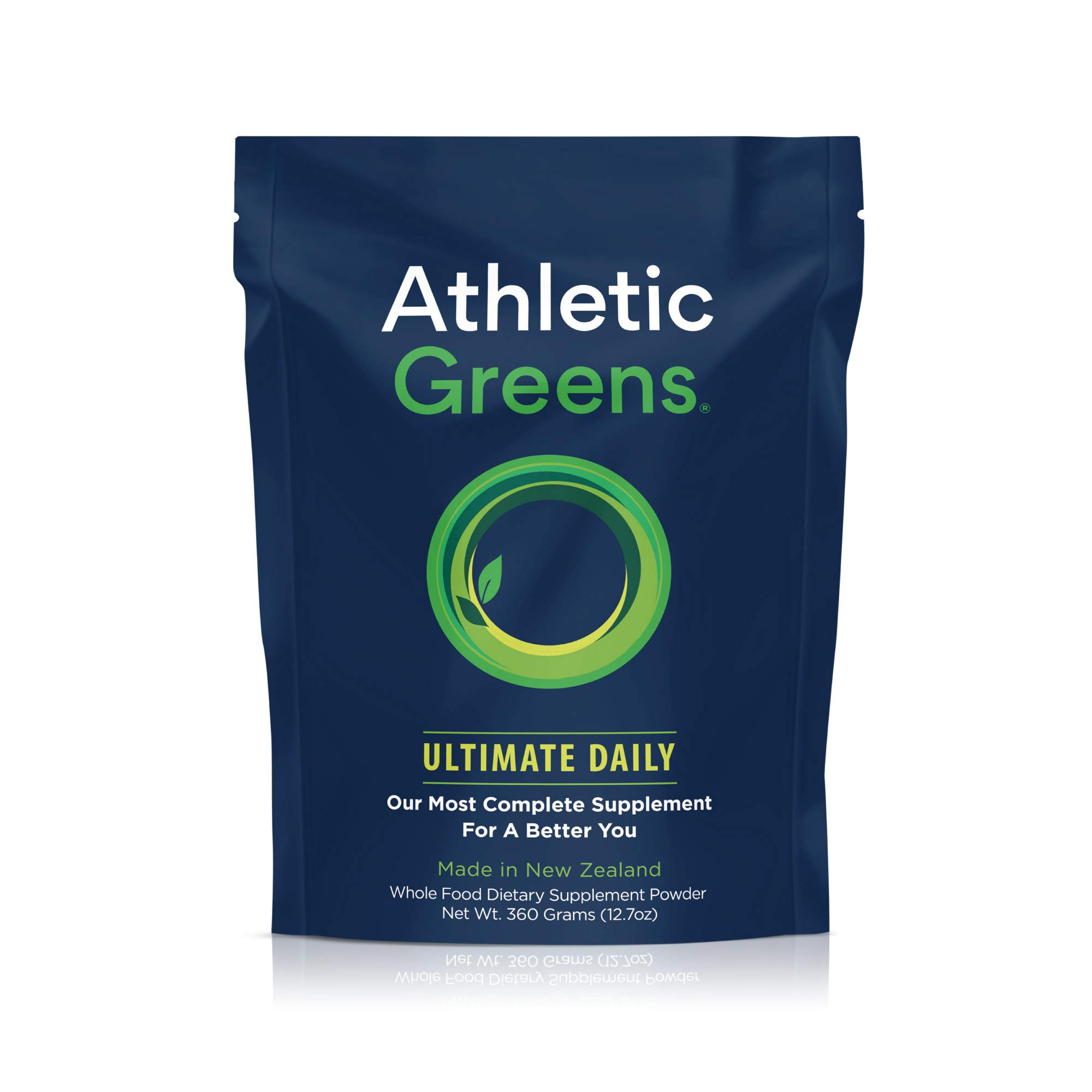Athletic Greens Ultimate Daily, Whole Food Sourced All In One Greens Supplement, Superfood Powder, GlutenFree, Vegan and Keto Friendly, 30 Day Supply, 360 grams by Athletic Greens