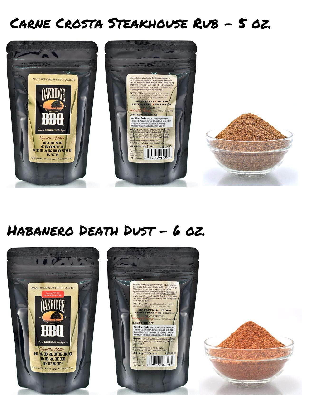 Oakridge BBQ The Ultimate Back Yard BarBQ Kit - Contains Eight (8) of the Most Popular Barbeque Rubs and Seasonings by Oakridge BBQ (Image #5)
