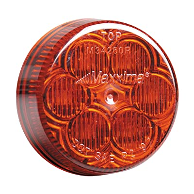 "Maxxima M34260R Red 2"" Round LED Clearance Marker Light: Automotive"