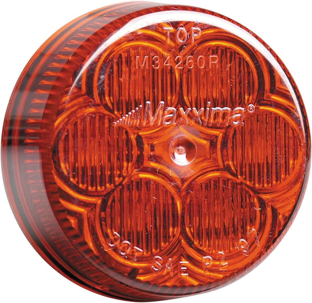 Maxxima M34260Y Amber 2 Round LED Clearance Marker Light
