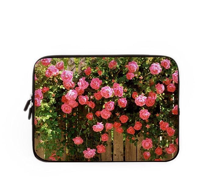 Funda para ordenador portátil Bolso Portátil Bolsa Caso floral, personalizado Lilly portátil Macbook Air funda, 10