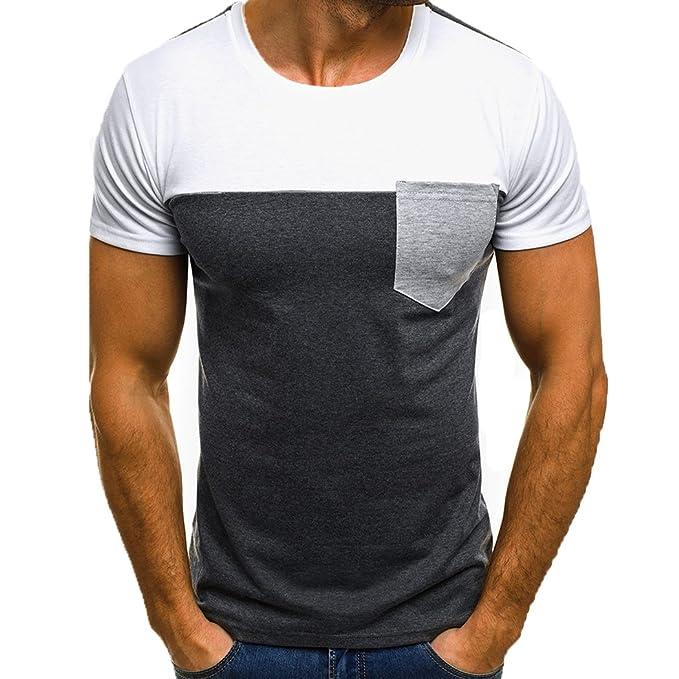 3e4ad69460d10 Weant Tshirt Uomo Manica Corta Bianca Polo Abbigliamento Uomo Slim Fit Tee  Tasca Taglie Forti Casual