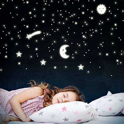 Wandkings Wall Stickers Sun, Moon And Stars: 161 Stickers Glow In The Part 50