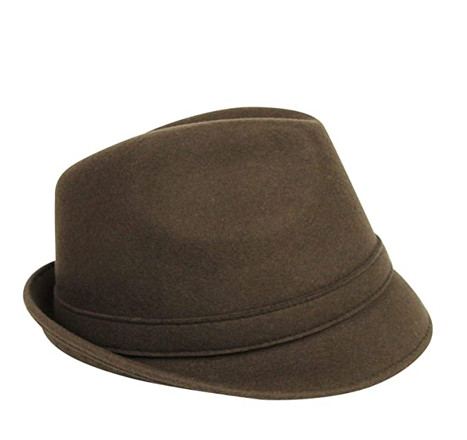071aa69a Amazon.com: Gucci Unisex Silver Plaque Logo Brown Wool Large Fedora Hat  322289 2366: Clothing
