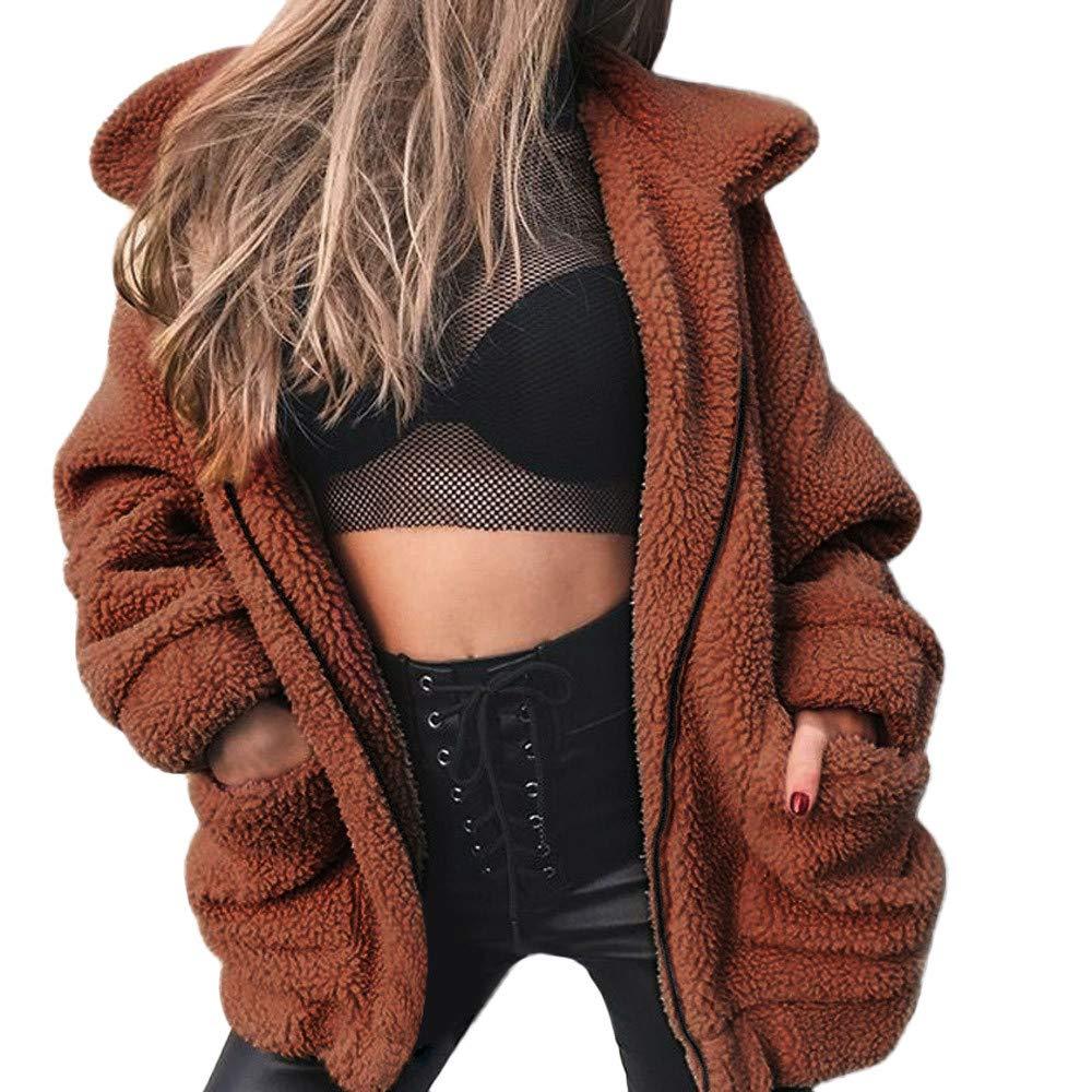 MORCHAN Manteau à Manches Longues en Faux Peau de Mouton pour Femme Manteau en Hiver pour Petit ami en Hiver