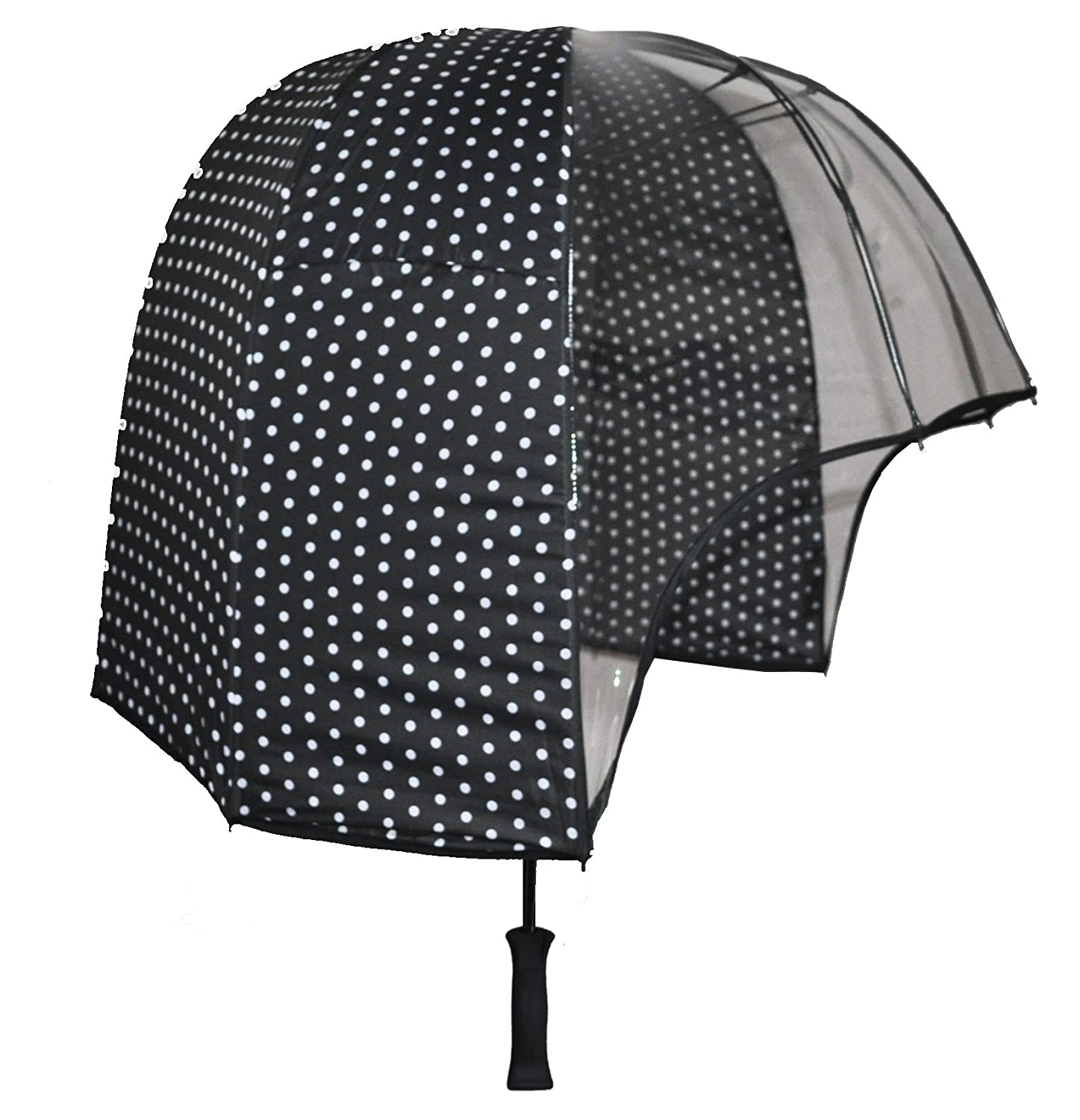 c5cc376e6c3c2 windproof dome umbrella Black polkadot - tested strong lightweight vented  canopy free carrying shoulder sleeve. by Rainshader: Amazon.co.uk: Sports &  ...