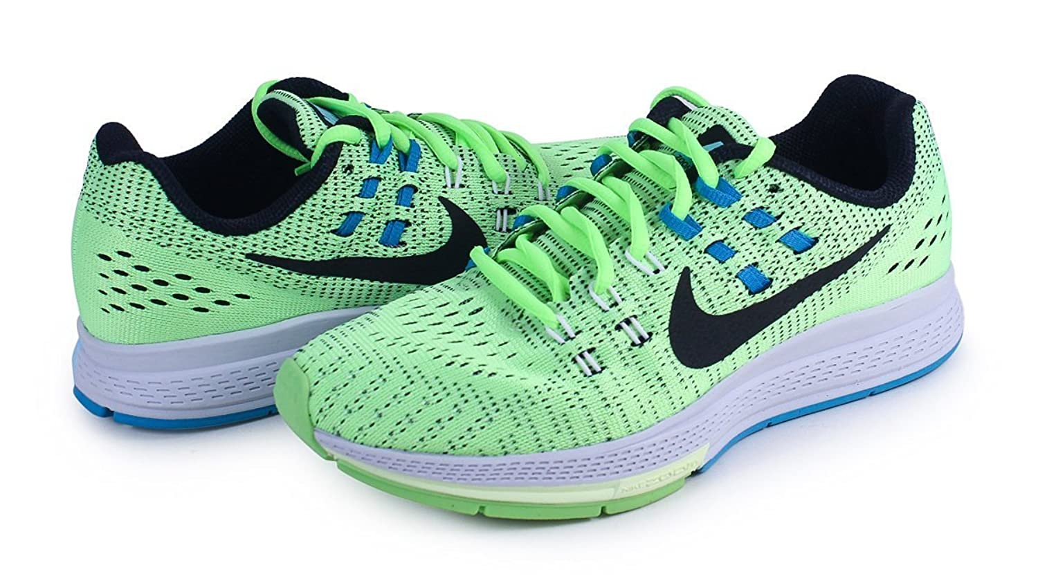 [806584-300] NIKE AIR ZOOM STUCTURE 19 WOMENS SNEAKERS NIKEGHOST GREEN BLACK WHITE BLLGN