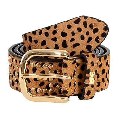 foto ufficiali 97b73 a6241 Le Temps des Cerises - Cintura leopardata, colore: Beige: Amazon ...