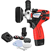 """ACDelco Mini Cordless Polisher Tool Set 2 Speed 12V 3"""" Pad, Set with 2 Li-ion Batteries, Charger, and Accessory Kit, G12 Series ARS1214"""
