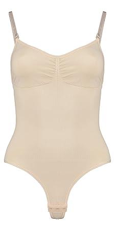 87b2c52edaa2e Jalana Bodywear Body String Gainant de (M, Beige): Amazon.fr ...