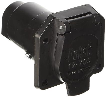 amazon com pollak 12 707 plastic 7 way socket automotive rh amazon com