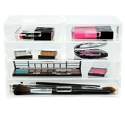 Amazoncom Acrylic Jewelry Cosmetic Organizer Storage Display 6