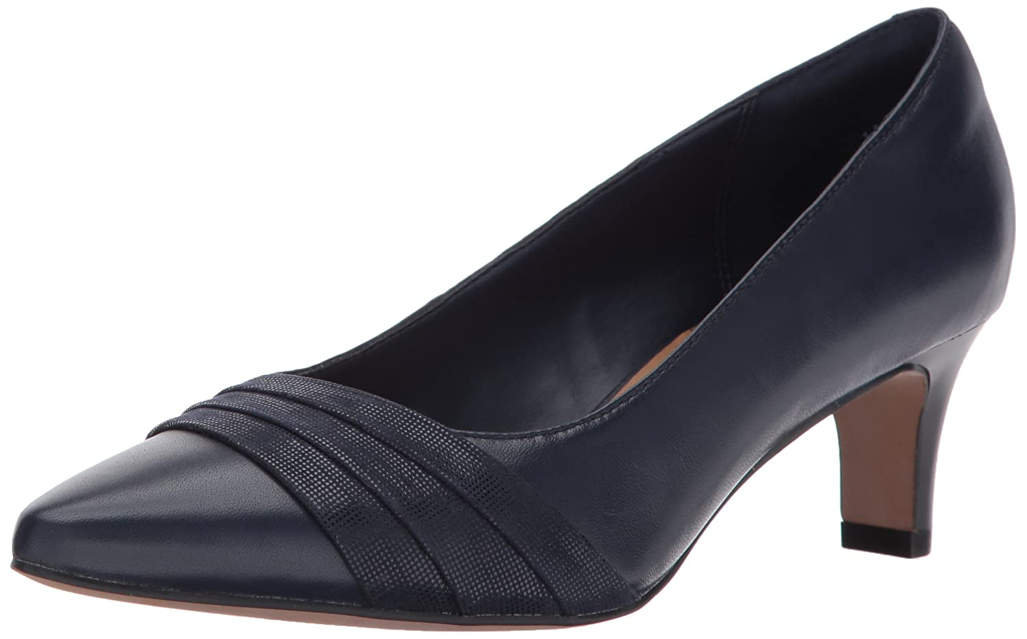 CLARKS Women's Crewso Madie Dress Pump B01MTY5PH5 7 B(M) US|Navy