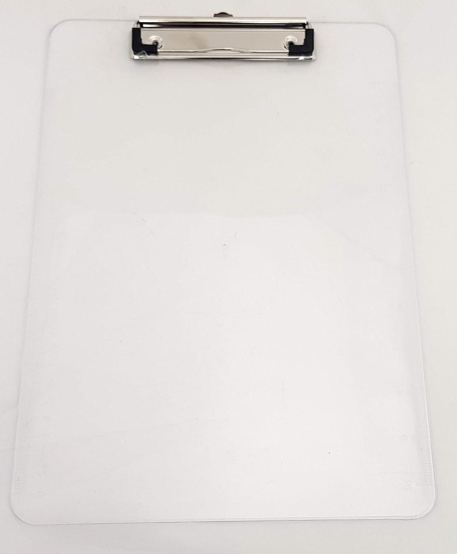 Portapapeles A4 individual o doble color PP CLEAR 5