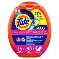 Deals on 96-CT Tide PODS Laundry Detergent Liquid Pacs Fresh Coral Blast Scent