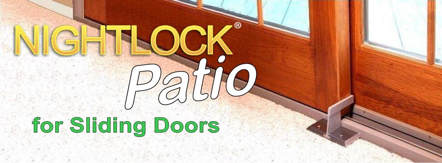 nightlock security lock patio sliding door barricade white finish