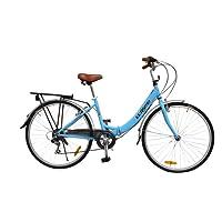 "ECOSMO 26"" New Folding Ladies Shopper City Bicycle Bike 7 SP SHIMANO -26ALF08B"