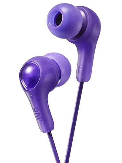 Purple GUMY in Ear Earbuds with Stay fit Ear Tips. Wired 3.3ft Colored Cord 1a5c676ec