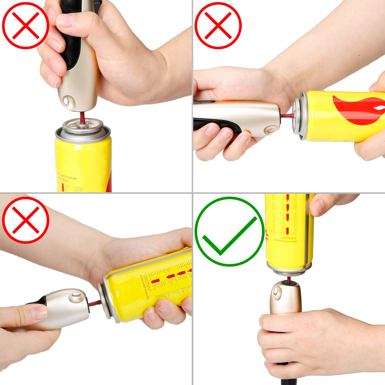 KOLIFEGOODS Butane Lighter Torch Lighter Jet Flame Long Lighter Refillable Candle Lighter Flexible Grill Lighter for Fireplace Candle Gas BBQ Fire Lighter(Butane Not Included for Shipping Safety