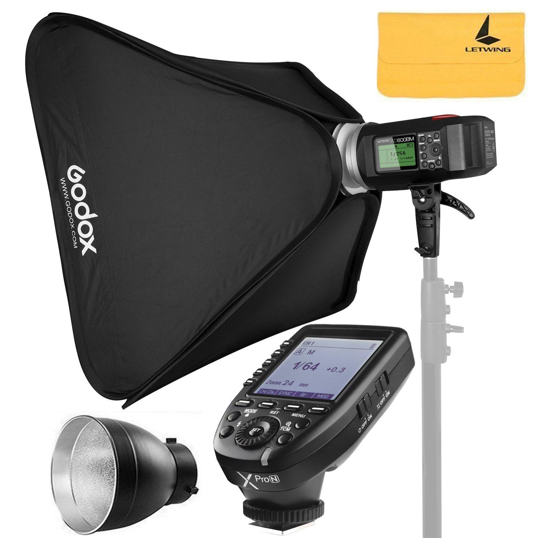 Godox AD600BM AD Sync 1 / 8000s 2.4G Wireless Flash Light Speedlite+Godox XPro-N for Nikon Series Cameras,AD-R6,80cmX80cm /32''X32''Softbox