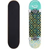 Cal 7 Patterned Complete 7.5 Inch Popsicle Double Kicktail Skateboard