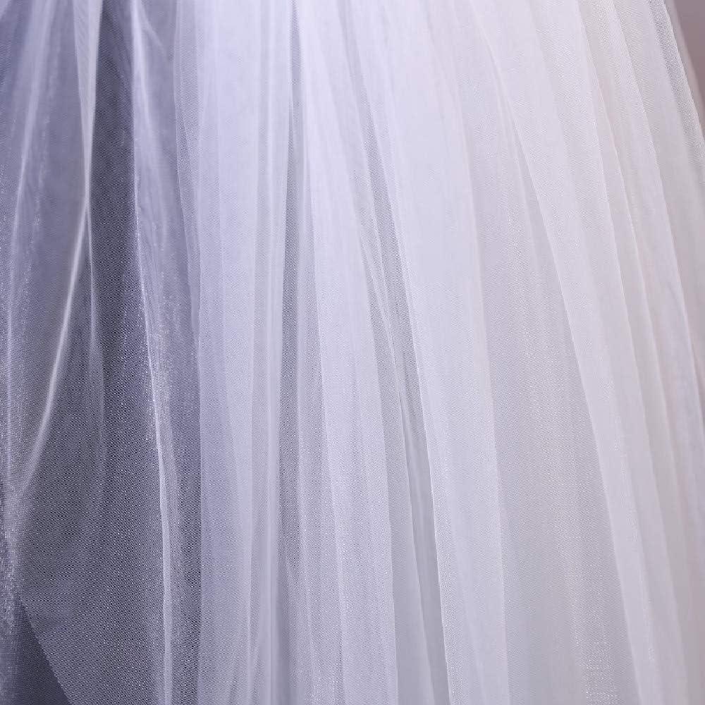 Voile Mari/éE Double Couche Tulle Doux Accessoires De Mariage Simples Pour Les Femmes Voiles De Mariage Simples Dentelle Blanche Tulle Chapeaux De Mari/éE Avec Peigne Soir/éE Cocktail De Bal 1 Pi/èCe