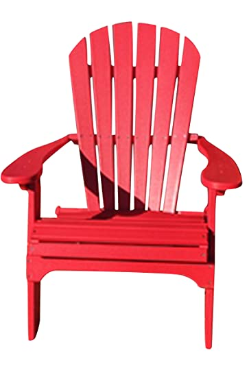 Incroyable Amazon.com : Phat Tommy Recycled Poly Resin Folding Adirondack Chair    Durable And Eco Friendly Patio Furniture Armchair, Red : Garden U0026 Outdoor