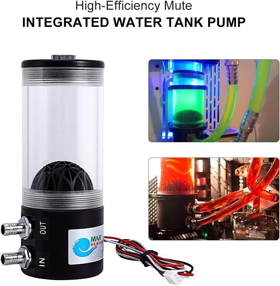 500L//H 10W DC 12V CPU CO2 Water Cooling Pump Heat Exchanger Tank Reservoir Combo