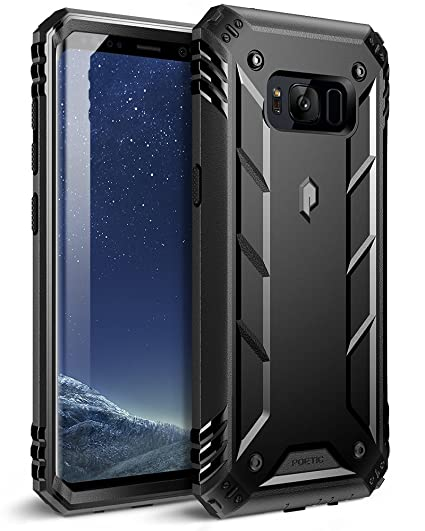 new style 74fed 41e75 Poetic Revolution Galaxy S8 Plus Rugged Case with Hybrid Heavy Duty  Protection Without Screen Protector for Samsung Galaxy S8 Plus Black