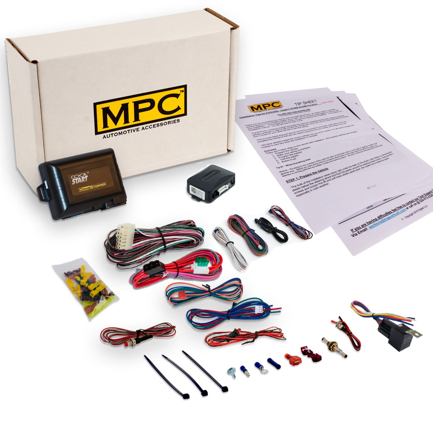 Mpc Complete Remote Start Kit For Select Gm Vehicles 2003 Gmc Yukon Denali Wiring Harness 1998 2007 Chevrolet Pontiac Use Your Oem Key Fobs Automotive