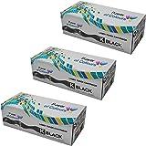 Power of Colours 3x Noir Cartouches de Toner remplacement pour HP CE505X/05X (6,500 Pages) - LaserJet P2050, P2053, P2053D, P2053N, P2054, P2054D, P2054N, P2055, P2055D, P2055DN, P2055X, P2056, P2056D, P2056N, P2057, P2057D, P2057N, Canon LBP-6300DN, LBP-6650DN, MF-5840DN, MF-5880DN