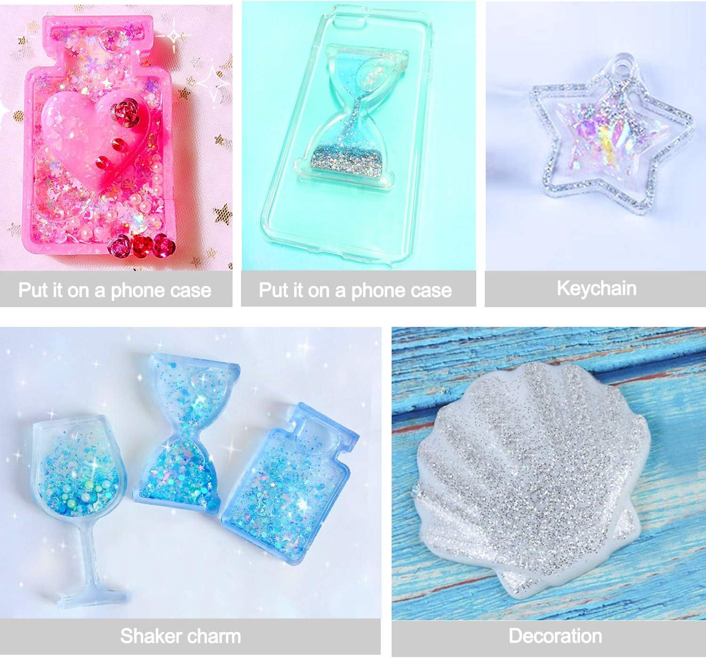 Epoxy Resin Molds Silicone Resin Mold E4-LSMJ-K Crystal Silicone Mold - Resin Shaker Mold Kawaii UV Resin Molds