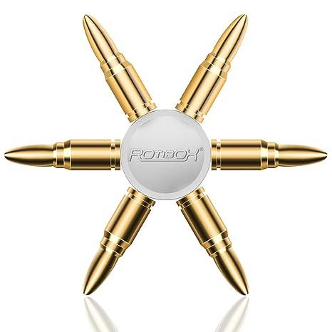 Qshell Bullet Fidget Spinner Toy DIY Ceramic Bearings For Anxiety ADD ADHD Premium Zinc Alloy