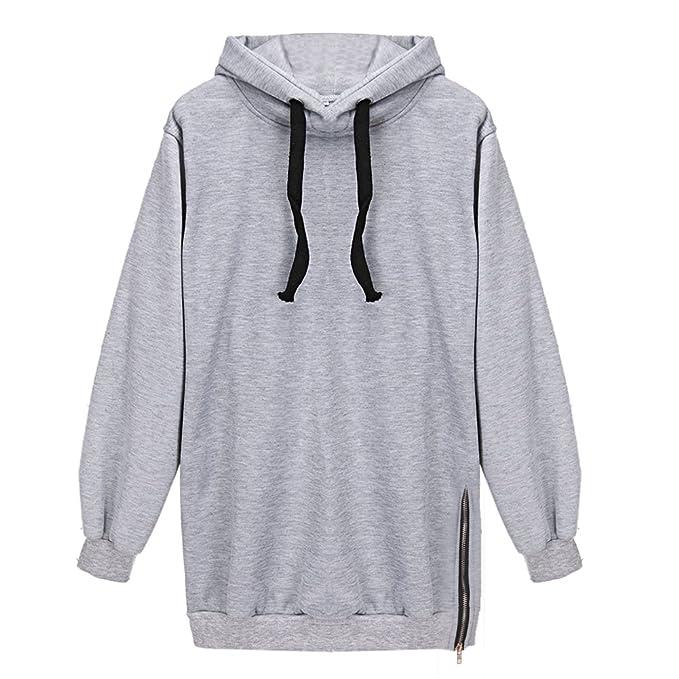 West See Damen Sweatshirts Kapuzen Kapuzenpullover Langarm Reißverschluss  Pullover Hoodie Herbst Winter (DE 36( 606477beb7