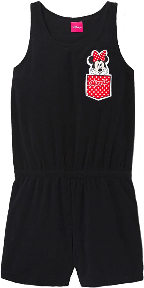Disney Minnie Mouse Girls Terry Romper Swim Cover up Black