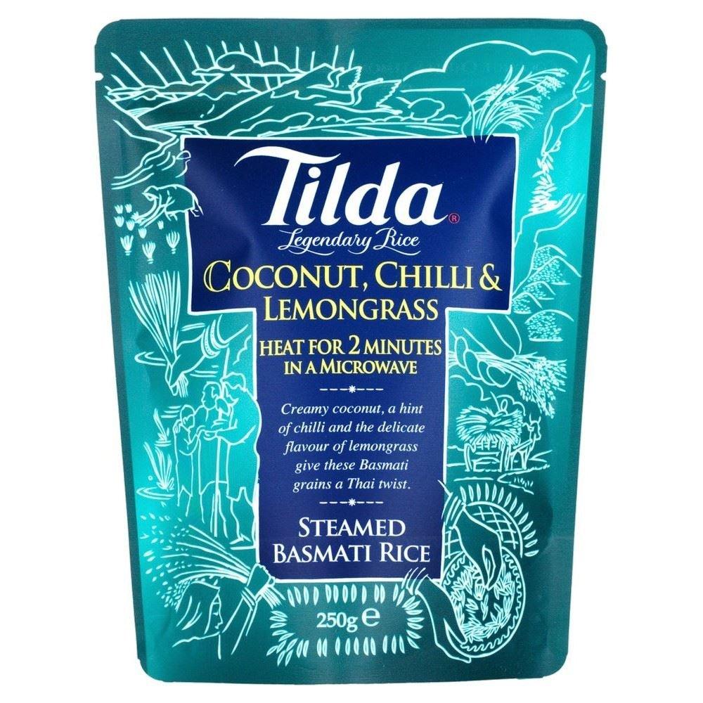 Tilda Steamed Basmati Rice Coconut, Chilli & Lemongrass (250g) - Pack of 2