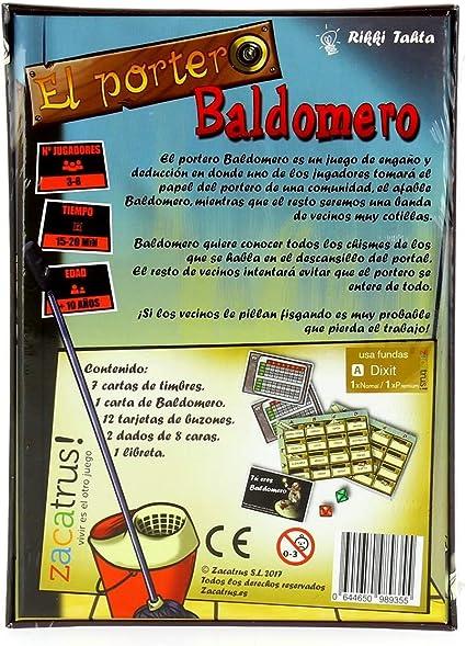 Zacatrus!-El Portero Baldomero Juego de Mesa, Multicolor (ZAC024): Amazon.es: Juguetes y juegos