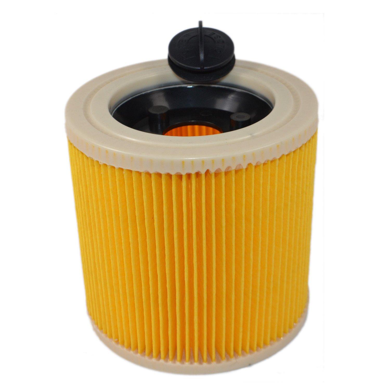 2x Filtro Cartuccia Filtro di ricambio per Kärcher bagnato e secco ASPIRATORE Cartucce Filtro