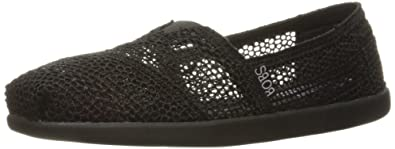 Skechers BOBS from Women's Bobs World-Daisy and Dot Flat, Black/Black,