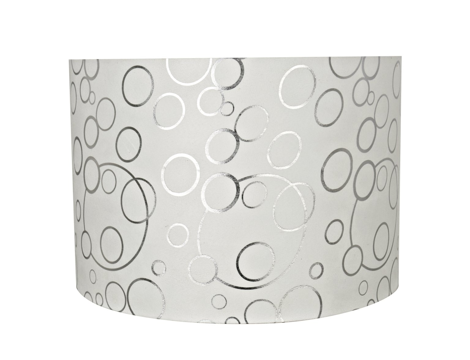 Aspen Creative 31163 Transitional Drum (Cylinder) Shaped Spider Construction Lamp Shade in White, 16'' Wide (16'' x 16'' x 11'')