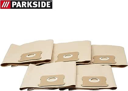 Bolsas de filtro de papel, bolsas para aspiradora, aptas para aspiradora Parkside en seco y húmedo PNTSA 20-Li A1 - LIDL IAN 310656 5 unidades: Amazon.es: Hogar